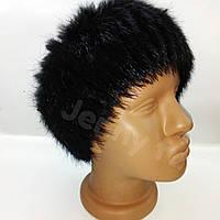 Меховая повязка из натурального меха нутрии/повязка на голову/ черный