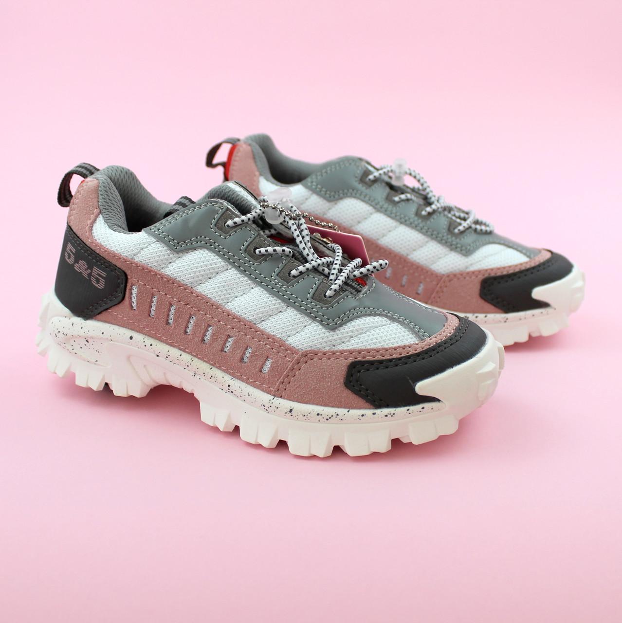 Кроссовки для девочки Пудра/серый тм Bi&Ki размер 29,32