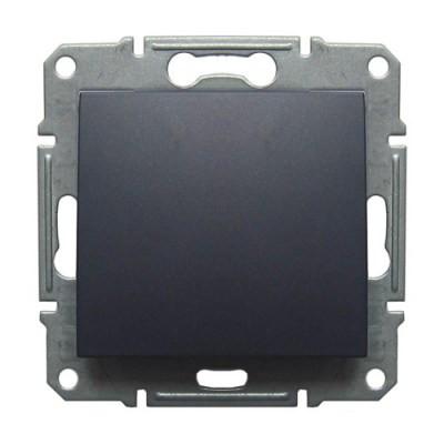 Переключатель проходной 1 клавишный Schneider Electric Sedna Графит SDN0400170