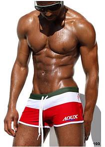 Стильные красные мужские плавки AQUX. Артикул: 103 XL