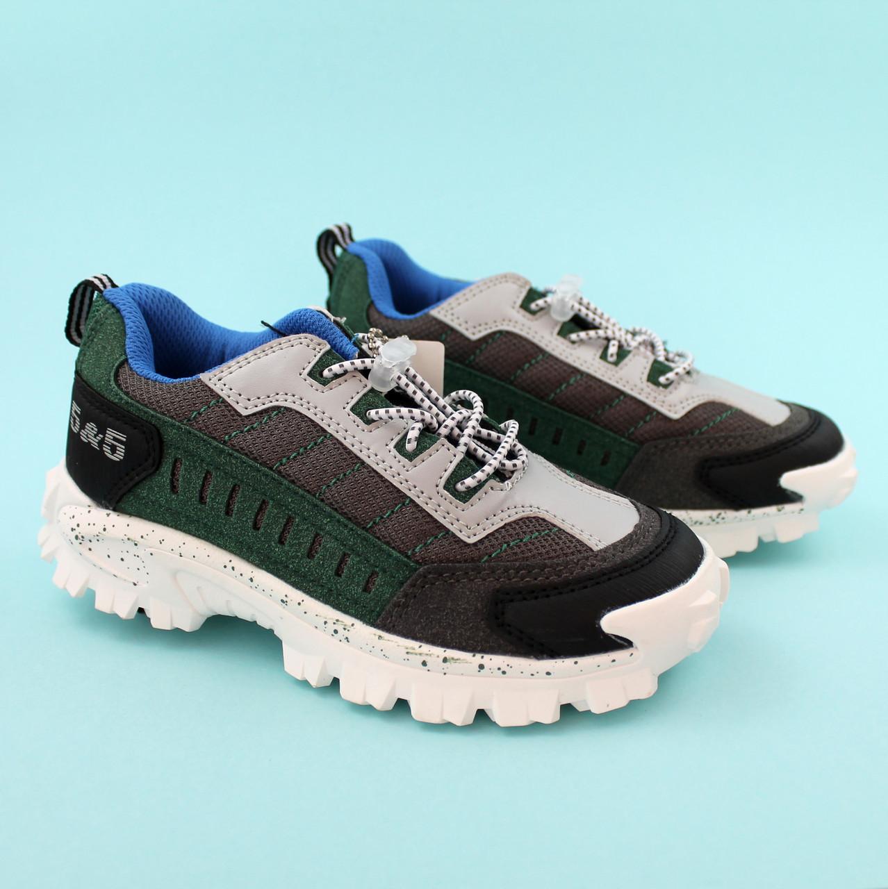 Кроссовки для мальчика Серые/зеленые тм Bi&Ki размер 28,34