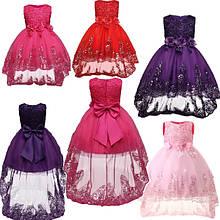 Удлиненные детские платья Кан-кан