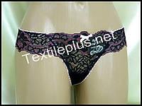 Трусики стринги Coeur joie черный-розовый 8629