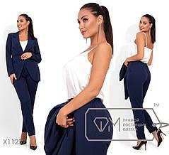 Классический молодёжный костюм-брюки+пиджак в деловом стиле  батал с 48 по 54 размер, фото 2