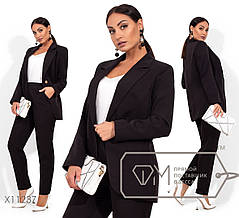 Молодёжный классический  костюм-брюки+пиджак в деловом стиле  батал с 48 по 54 размер, фото 2