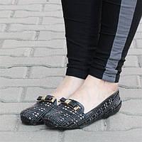 Резиновые Женские балетки, лодочки туфли , туфли, на плоской подошве от производителя  черного цвета! Очень легкие и удобные!