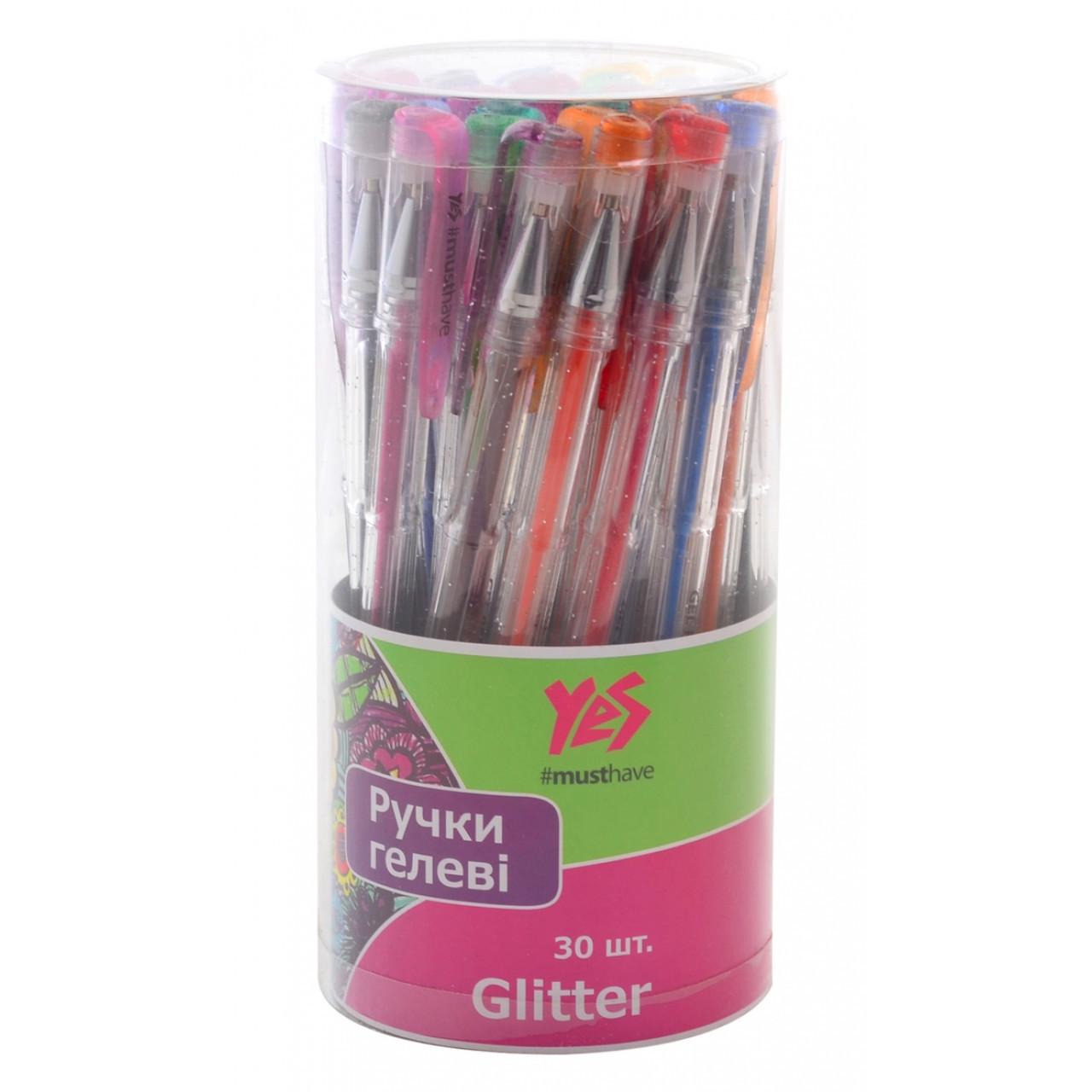 """Ручка гелевая """"Glitter"""" 30 цв./тубус"""
