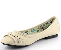 Стильные Женские балетки, лодочки туфли , туфли, на плоской подошве от производителя  бежевого цвета! Очень легкие и удобные!