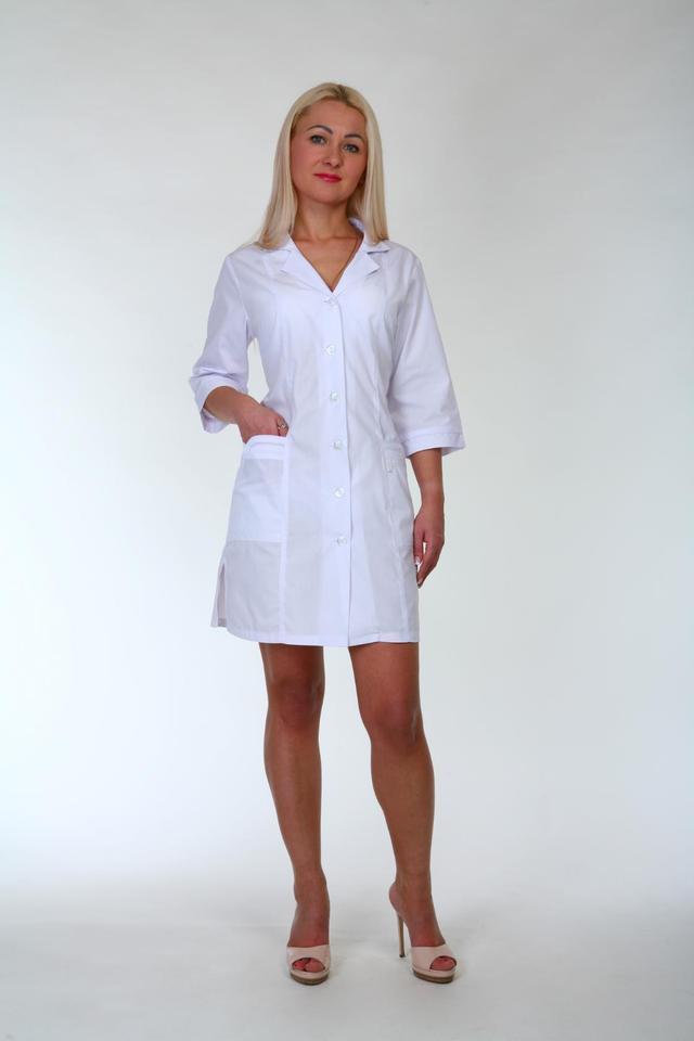 Медицинский халат с четверным рукавом