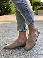Туфли женские 8 пар в ящике бежевого цвета 35-40