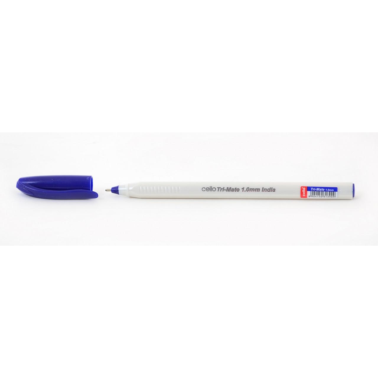 """Ручка  шариковая/масляная """"Tri-Mate"""" синяя 1 мм """"CELLO"""""""