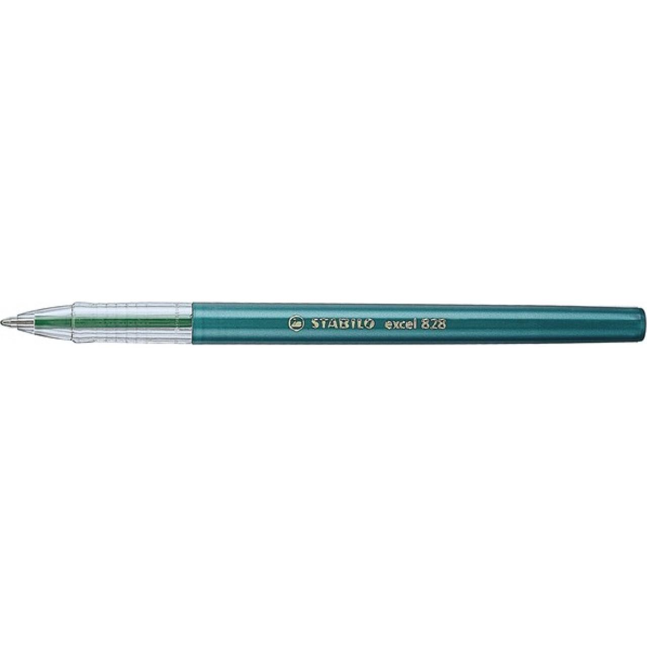 Ручка шариковая STABILO EXCEL, зеленая 828F1036