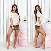 Костюм женский для дома,для сна,  шортики и  футболочка,4 вида, размеры 42/44 46/48 , код 0183