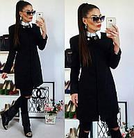 Пальто женское, модель  739/2,  черный