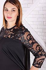 Шикарна вечірня сукня з шифоном великі розміри, фото 2