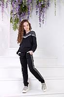 Красивый спортивный костюм для девочки Двунитка со вставками люрекса Размер 134 140 146 152