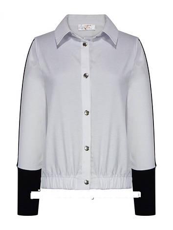 """Детская школьная блуза для девочки с длинным рукавом от """"Lucky Talin"""" 18801   на возраст от 8 по 15 лет, фото 2"""