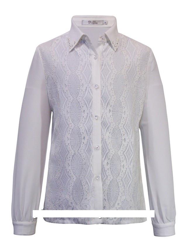 Детская школьная блуза для девочки с длинным рукавом от Deloras 61113 | 134-176р.