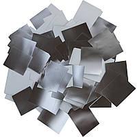 Конфетти-Метафан Серебряно-Белый Премиум 2.5х2.5 (фольгированный) 1кг, фото 1