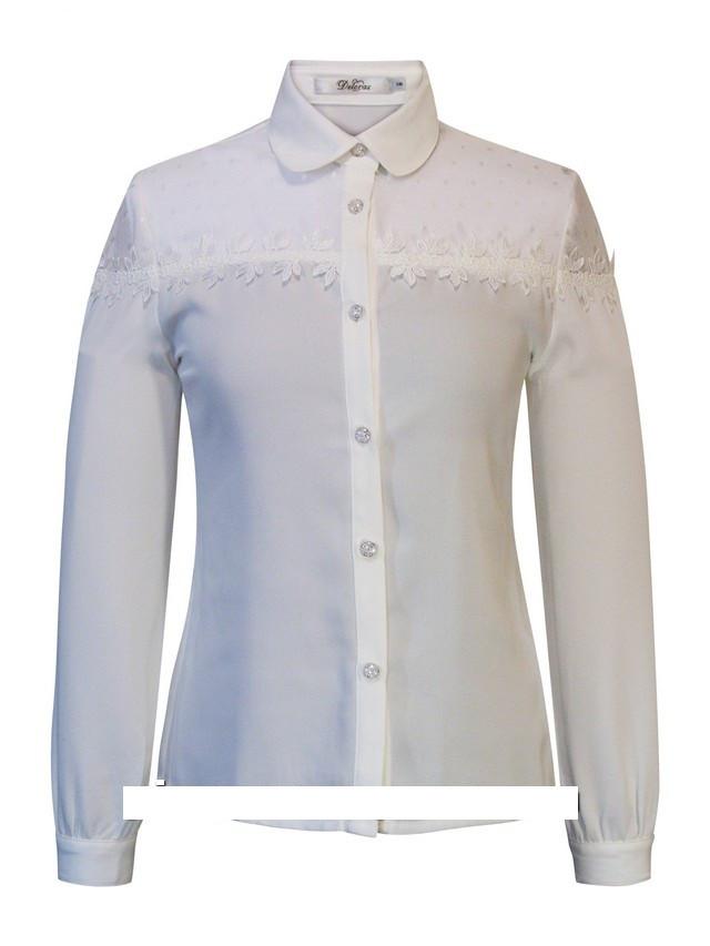 Детская школьная блуза для девочки с длинным рукавом от Deloras 61620 | 128-152р.