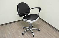 Парикмахерское кресло Mebel Studio YORK гидравлика пятилучье хром (001837)