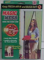 Москітна сітка на магнітах Magic Mesh 210*102 см (чорний і коричневий колір)