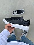 Стильные женские кроссовки Alexander McQueen (Александр Маквин) Black/White, фото 2