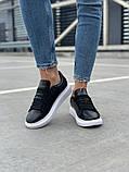Стильные женские кроссовки Alexander McQueen (Александр Маквин) Black/White, фото 3