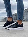 Стильные женские кроссовки Alexander McQueen (Александр Маквин) Black/White, фото 4