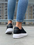 Стильные женские кроссовки Alexander McQueen (Александр Маквин) Black/White, фото 7