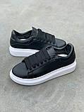 Стильные женские кроссовки Alexander McQueen (Александр Маквин) Black/White, фото 5
