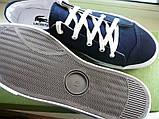 Кеды Lacoste 38 24,5 см Синие, копия, фото 2