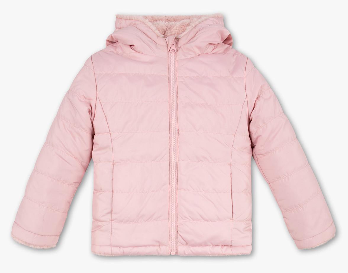 Куртка с мехом для девочки розовая C&A Германия Размер 104