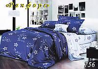 Комплект постельного белья с простынью на резинке Тет-А-Тет евро 756 ранфорс