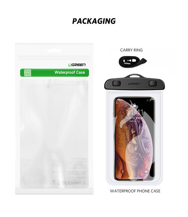 Защитный водонепроницаемый чехол Ugreen для телефона и документов 60959 50919 Прозрачный