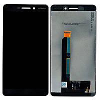 Дисплей (модуль) на Nokia 6.1 + сенсор черный original