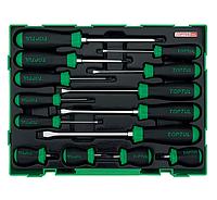 Набор отверток для автомобиля, слесарных, PH, SL, профессиональных, 14 предметов, топтул, Toptul GTC1401