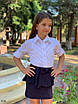 Блуза школьная для девочки на пуговицах х/б 122,128,134,140, фото 2