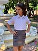 Блуза школьная для девочки на пуговицах х/б 122,128,134,140, фото 3