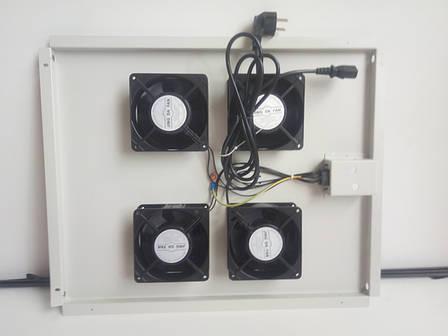Вентиляторный блок на 4 кулера. 555х450х40мм, фото 2