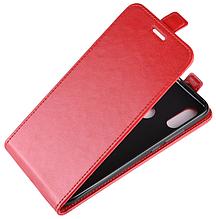 Кожаный чехол флип для Xiaomi Redmi 7 красный
