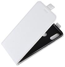 Кожаный чехол флип для Xiaomi Redmi 7 белый