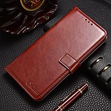 Кожаный чехол-книжка для Xiaomi Mi 9 коричневый