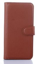 Кожаный чехол-книжка для HTC One M9 Plus коричневый
