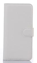 Кожаный чехол-книжка для HTC One M9 Plus белый