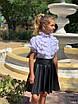 """Юбка расклешенная """"Солнце"""" школьная эко-кожа 122,128,134,140, фото 4"""