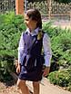 Сарафан школьный для подростка без рукав мадонна/тиар 134,140,146,152,158, фото 2