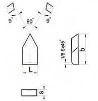 Пластина твердосплавная напайная 23010 Т5К10