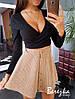 Вельветовая женская юбка (беж, розовый, серый и синий, С и М)