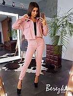 Вельветовый костюм: курточка + брюки, фото 1